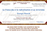 INVITATION – GEORGES FENECH: La France face à la radicalisation et au terrorisme